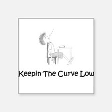 """Keepin the Curve Low Square Sticker 3"""" x 3"""""""