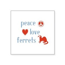 "Ferret Square Sticker 3"" x 3"""