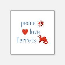 """Ferret Square Sticker 3"""" x 3"""""""