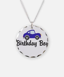 Birthday Boy Blue Car Necklace