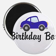 Birthday Boy Blue Car Magnet