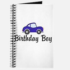 Birthday Boy Blue Car Journal