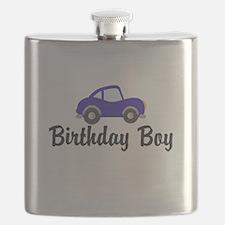 Birthday Boy Blue Car Flask