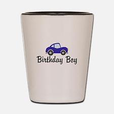 Birthday Boy Blue Car Shot Glass