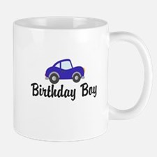 Birthday Boy Blue Car Mug