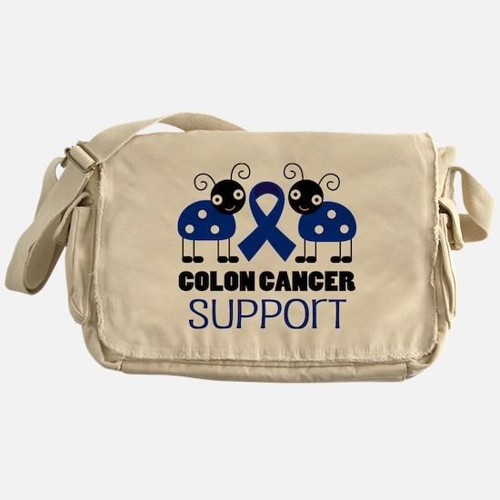 Colon Cancer Support ladybug Messenger Bag