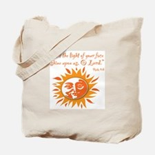 Light of Your Face Tote Bag