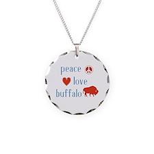 Buffalo Necklace Circle Charm