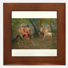 Centaurs in Love and War Framed Tile