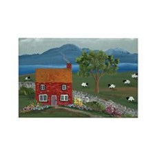 Dream Cottage Rectangle Magnet