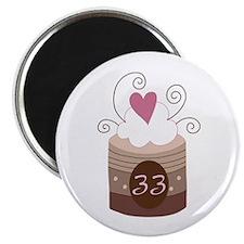 33rd Birthday Cupcake Magnet