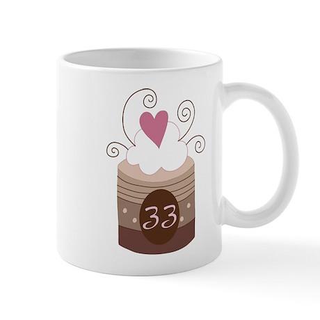 33rd Birthday Cupcake Mug