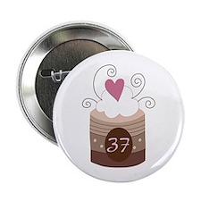 "37th Birthday Cupcake 2.25"" Button"