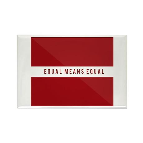 Equal Means Equal Rectangle Magnet