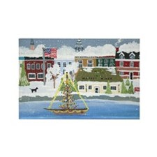 Annapolis Christmas Rectangle Magnet