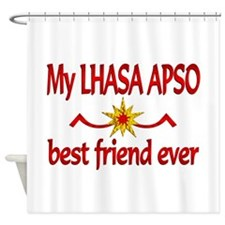 Lhasa Apso Best Friend Shower Curtain