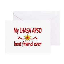 Lhasa Apso Best Friend Greeting Card