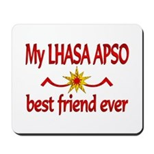 Lhasa Apso Best Friend Mousepad