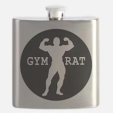 Gym Rat Bodybuilder Flask