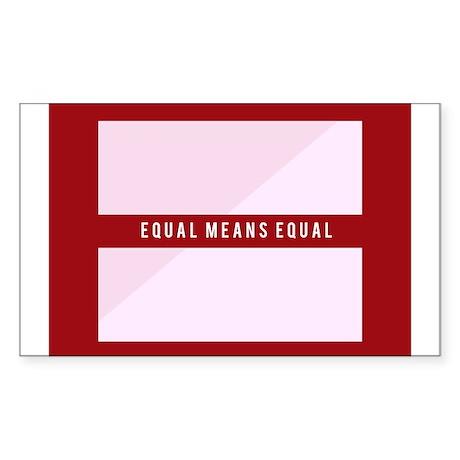 Equal Means Equal Sticker