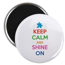 """Keep Calm And Shine On 2.25"""" Magnet (100 pack)"""