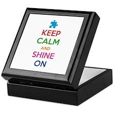 Keep Calm And Shine On Keepsake Box