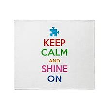 Keep Calm And Shine On Stadium Blanket