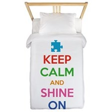 Keep Calm And Shine On Twin Duvet