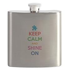 Keep Calm And Shine On Flask