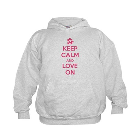 Keep Calm And Love On Kids Hoodie