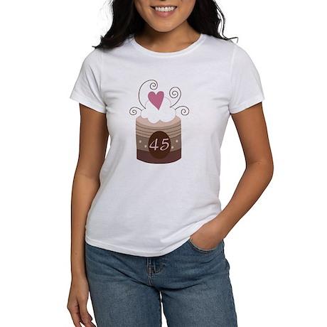 45th Birthday Cupcake Women's T-Shirt