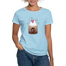 47th Birthday Cupcake T-Shirt