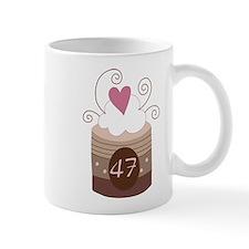 47th Birthday Cupcake Mug