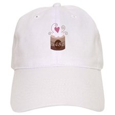 48th Birthday Cupcake Baseball Cap
