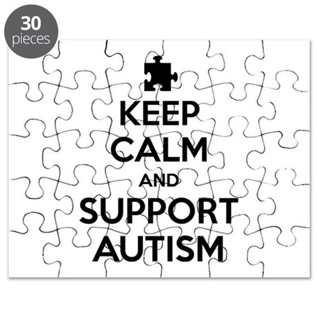 Keep Calm And Support Autism Puzzle