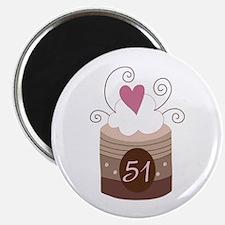 51st Birthday Cupcake Magnet