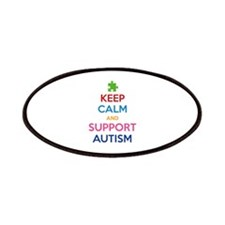 Keep Calm And Support Autism Patches