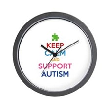 Keep Calm And Support Autism Wall Clock