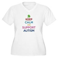 Keep Calm And Support Autism T-Shirt
