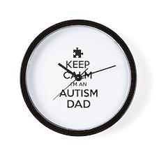 Keep Calm I'm An Autism Dad Wall Clock