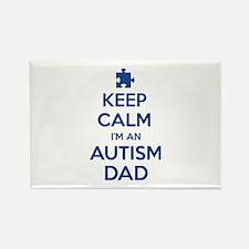 Keep Calm I'm An Autism Dad Rectangle Magnet
