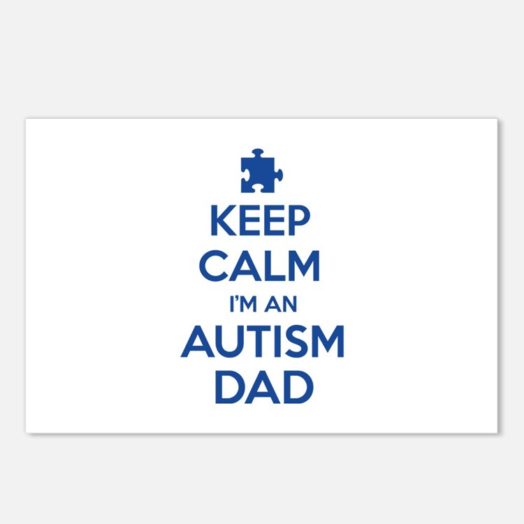 Keep Calm I'm An Autism Dad Postcards (Package of