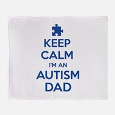 Keep Calm I'm An Autism Dad Stadium Blanket
