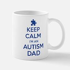 Keep Calm I'm An Autism Dad Small Small Mug
