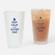 Keep Calm I'm An Autism Dad Drinking Glass