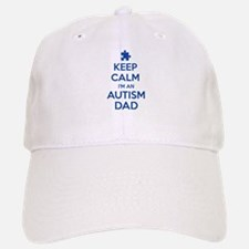 Keep Calm I'm An Autism Dad Baseball Baseball Cap