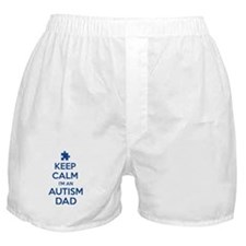Keep Calm I'm An Autism Dad Boxer Shorts