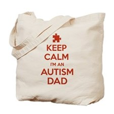 Keep Calm I'm An Autism Dad Tote Bag