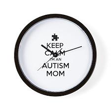 Keep Calm I'm An Autism Mom Wall Clock