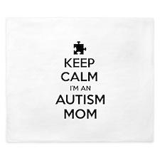 Keep Calm I'm An Autism Mom King Duvet